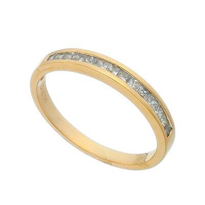 Aliança Ouro Rosê e Diamantes Carrés
