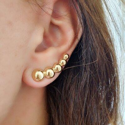 Brinco Ear Cuff Esferas