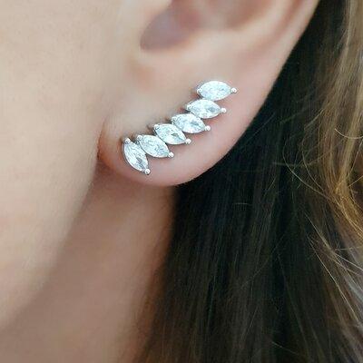 Ear Cuff Navetes de Zirconias