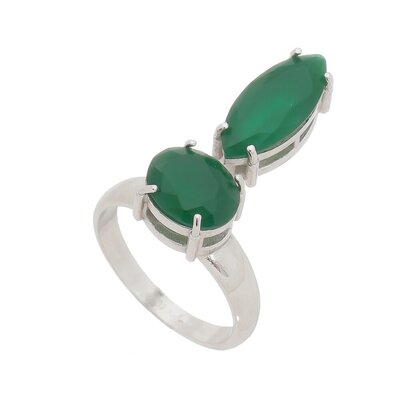 Anel Navete Jade Fusion