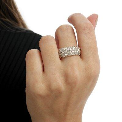 Anel Ouro Rosê com Diamantes 2,0 ct