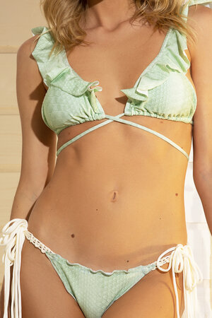 TANGA GIRLY SNAKE LIGHT GREEN