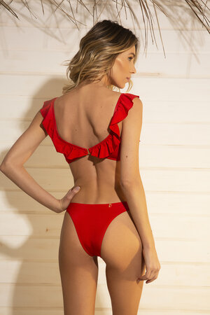 TOP BABADO SHINE RED