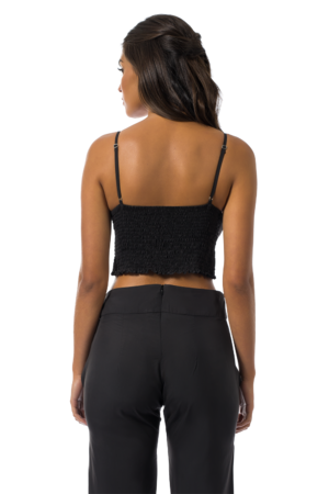 CROPPED TOTAL BLACK
