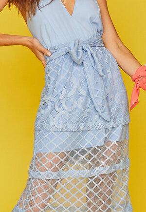 Vestido saia renda