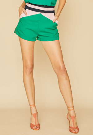 SHORTS LILAGREEN