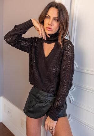 Blusa tricot textura