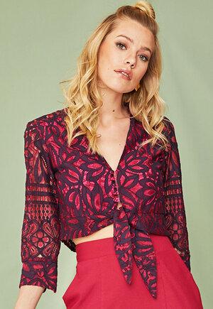 Camisa renda pink