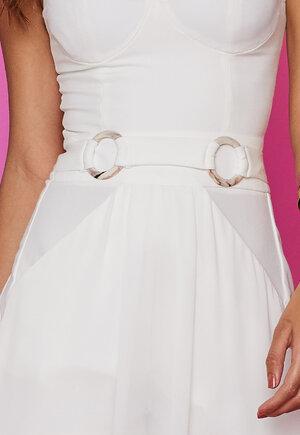Vestido saia transpa