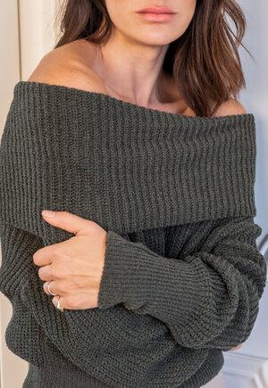 Blusa tricot gola