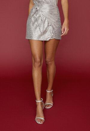 Shorts saia silver croco