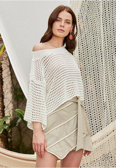 Blusa tricot bianca Off white