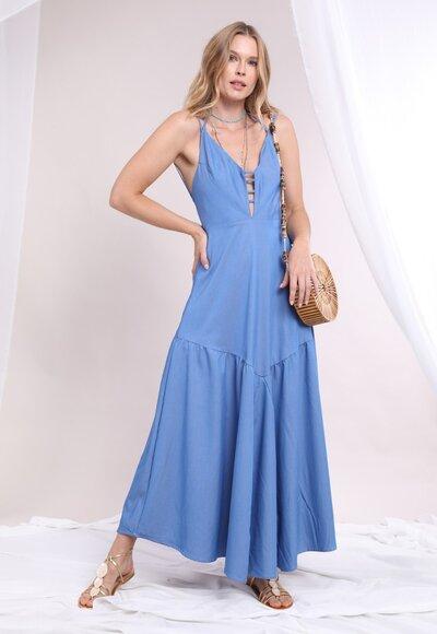 Vestido azul denin