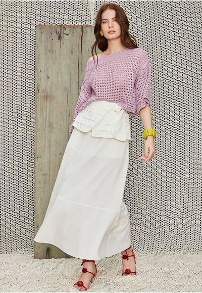 Blusa tricot bianca Lilas