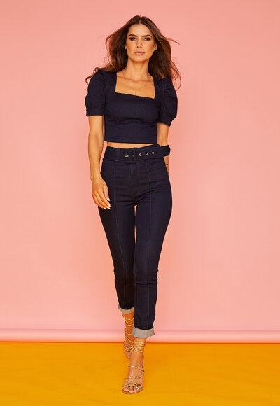 Blusa jeans princesa