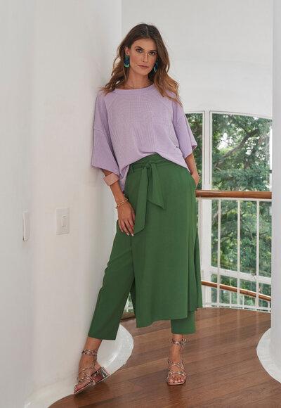 Blusa malha lila