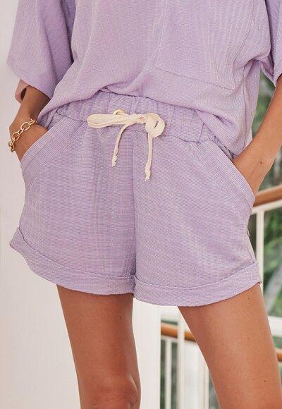 Shorts malha lila