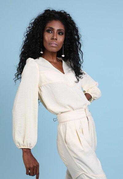 Blusa marcela marfim