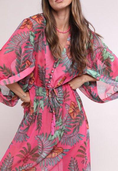 Vestido crepe hawaii