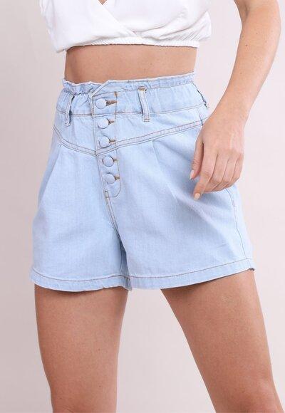 Shorts jeans elastico