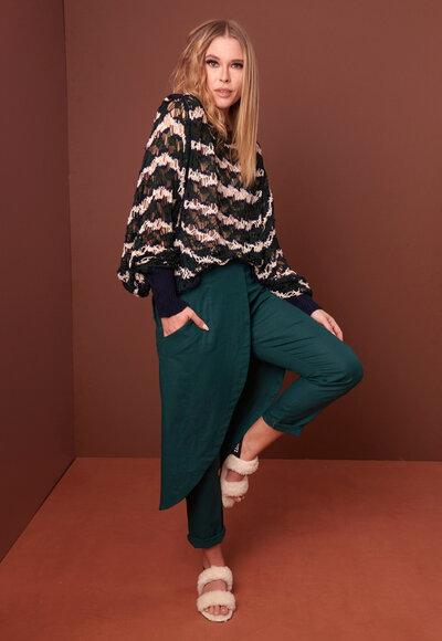 Blusa tricot rendada