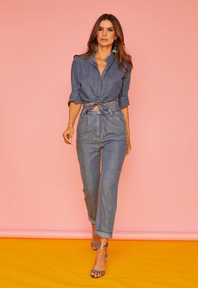 Calça jeans tencel