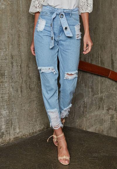 Mom jeans ilhós