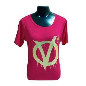 Blusa +QV Revolution Pink Dourado