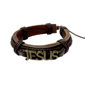 Pulseira Homens de Aliança Jesus marrom (Fosco)