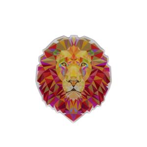 Adesivo Leão - Contornado fundo Branco