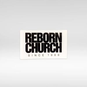 Adesivo Reborn Church - Quadrado