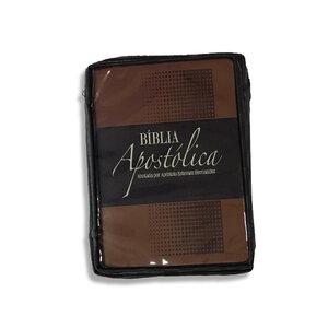 Capa marrom para Bíblia Apostólica