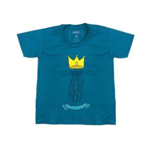 Camiseta Kids Sou Filho do Rei Manga Curta Baltico