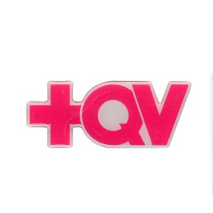 Adesivo +QV Contornado - Pink com branco