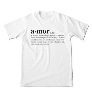Babylook Dicionário Amor Branca