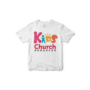 Camiseta Kids Renascer Church Branca