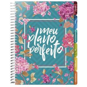 Agenda Planner Meu Plano Perfeito Capa Flores