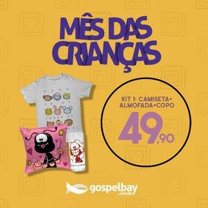 Kit Camiseta + Almofada e Copo Smilinguido
