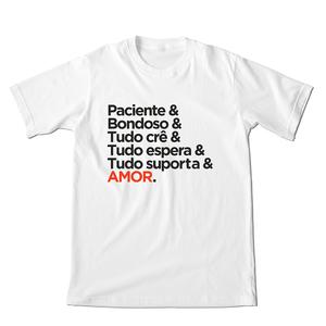 Camiseta 1 Coríntios 13 Branca