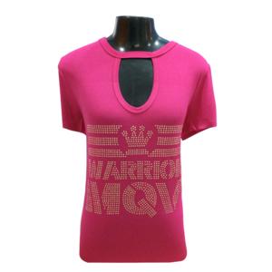 Blusa +QV Warrior Coroa Pink (Dourada)