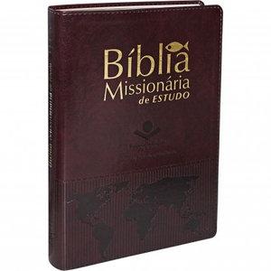 Bíblia Missionária de Estudo Vinho Nobre - SBB