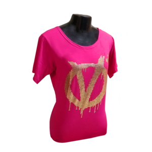 Blusa +QV Revolution Tachas Pink