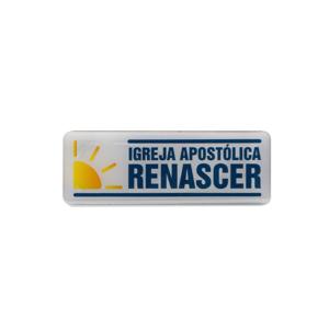 Adesivo logo Renascer - Horizontal Branco