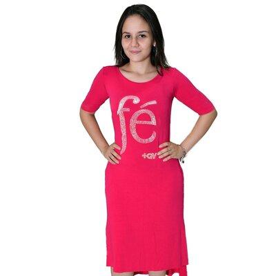 Vestido Fé com Cristais Rosa