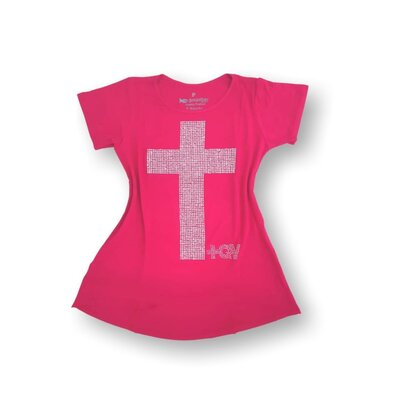 Blusa +QV - Pink com Cristais Brancos