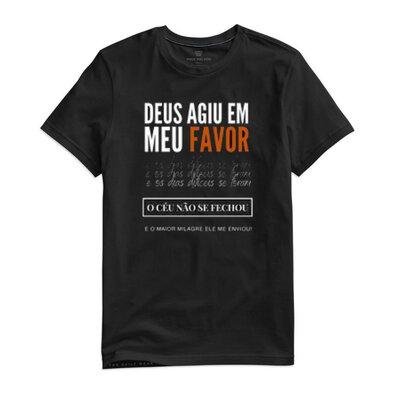 Camiseta Deus agiu em meu favor