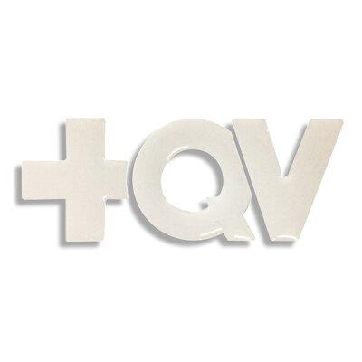 Adesivo +QV - Recortado Branco