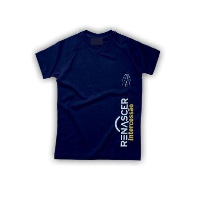 Camiseta Renascer Intercessão Azul Marinho