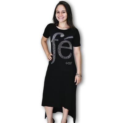 Vestido Fé com Cristais Preto