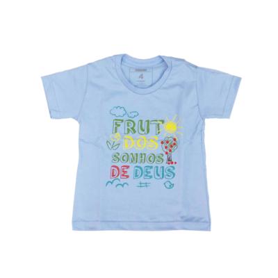 Camiseta Kids Sou Fruto dos Sonhos Manga Curta